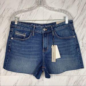 Calvin Klein Medium Wash Denim Weekend Shorts